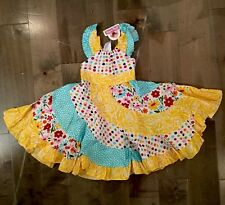 Jelly the Pug Sun Dress Spring Bling Flo Woven Dress Size 2T NWT 100% Cotton