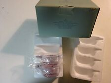 Lot of 2 Partylite Groovy Tealight Colored Glass Candle Holders RED P8918