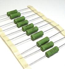 10x Leistungs-Widerstand / Draht-Widerstand, 10 Ohm, 5%, 5W / 5 Watt, NOS