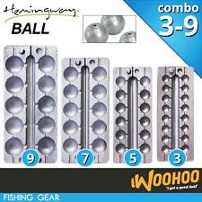 COMBO Size 3 5 7 9 Fishing Ball Sinker Mould - Hemingway