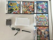 Nintendo DS Lite Polar White with Games Charger Stylus