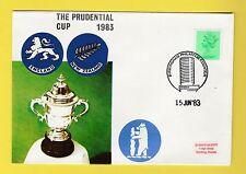 Cricket-TIMBRO COVER-PRUDENTIAL Cup-Inghilterra V Nuova Zelanda - 1983