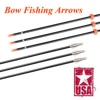 "32/"" Fishing Arrow Fiberglass Solid Arrows Bowfishing with Broadhead Stopp 3X"
