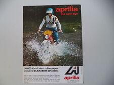 advertising Pubblicità 1976 MOTO APRILIA SCARABEO 50 e CLAUDIO PELLIZON
