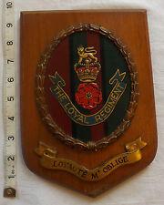 Original Military The Loyals  Regiment Wooden  Wall Plaque (997)