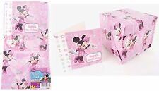 Disney Minnie Mouse Wrapping Paper Set Inc Birthday Card & Tag + FREE Envelope