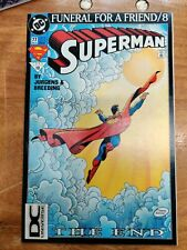 SUPERMAN #10 FN/VF 3RD PRINTING FUNERAL FOR A FRIEND DC UNIVERSE VARIANT  VHTF
