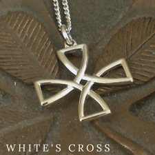 Sterling Silver Irish White's Cross Made in Ireland  by FADO Celtic Cross