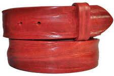 Cinturones de mujer de color principal rojo de piel