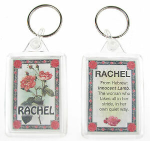 """NOVELTY NAME KEYRING PRINTED BOTH SIDES WITH ORIGIN & MEANING, LETTER """"R"""" UK NEW"""
