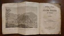Gaudenzio Bordiga STORIA E GUIDA DEL SACRO MONTE DI VARALLO 1857 Gravure