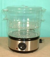 FOOD STEAMER COOKS ESSENTIALS MODEL 97610 2 TIER MINI