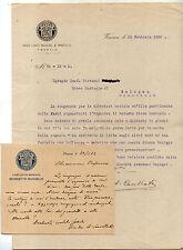 1922 LOTTO LETTERE DEL DIRETTORE CONSERVATORIO BENEDETTO MARCELLO DI VENEZIA