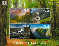 Ghana UNESCO Stamps 2013 MNH World Heritage Sites Victoria Falls Trees 4v M/S