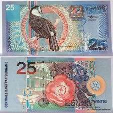 SURINAME billet neuf de 25 GULDEN Pick148  oiseau TOUCAN fleurs 2000
