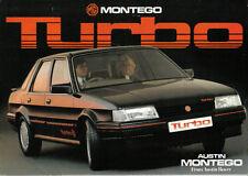 MG Montego Turbo original UK Sales Brochure Pub. No. 3710 circa 1985