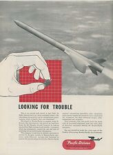 1952 Bendix Aviation Ad Douglas Aircraft Guided Missile Scale Model in Flight