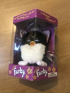 Original FURBY 1998 Black & White with Pink Ears Model #70-800! New!