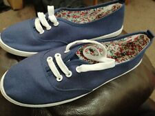 Navy Canvas Shoes Size 5 - Wider Fitting
