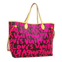 LOUIS VUITTON NEVERFULL GM HAND TOTE BAG SP0099 FUCHSIA GRAFFITI M93701 A54245