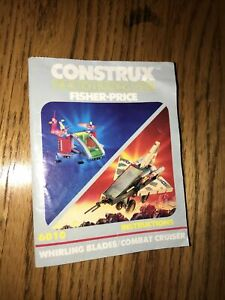 1986 construx fisher price instructions only for set 6010 combat crusier