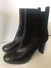 Clarks Kendra Porter Black Leather High Heel Ankle Platform Boots UK 6.5 E Wide