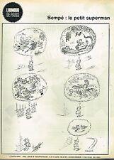 E- Publicité Advertising 1961 Dessin signé Sempé