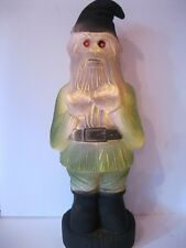 Blow Mold Halloween Zombie Gnome Red Eyes Lighted