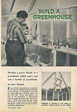 1961 How to Build a Greenhouse Home Gardening Garden Vintage Retro