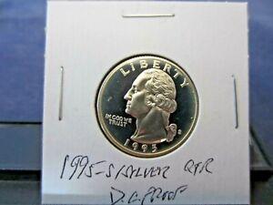 1995-S Silver Washington Quarter Deep Cameo Mirror Proof - Upper Grading Ranges