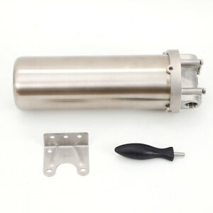 """Water Filter Stainless Steel Cartridge Housing 10"""" 3/4"""" R Thread Inlet Outlet"""