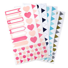 Assorted Shape and Pennant Label Scrapbooking Stickers, 6-Sheet