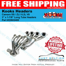 "Kooks 1-7/8"" x 3"" Long Tube Headers 2016-2019 Camaro 6.2L SS / ZL1 22602400"