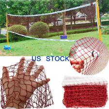 Height Badminton Volleyball Tennis Beach Net Set Indoor Outdoor Games Red