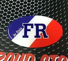 "Je Suis France Flag Oval Domed Decal Emblem Flexible Car Sticker 3D 3.25""x 2"""
