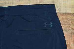 UNDER ARMOUR Performance Lightweight Flat Front Navy Blue Golf Pants 34x32 B61