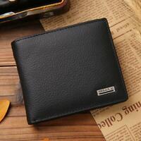 titulaire de la carte de crédit pièce bifold véritable cuir portefeuille sac