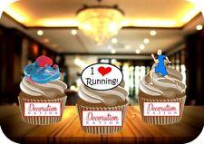 Running Mix B Male 12 Edible STANDUP Cake Toppers Decoration Birthday Fun Runner