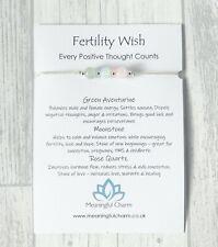 Fertility Wish Bracelet Gemstone Pregnancy Aid Conceive IVF Positive Gift Baby
