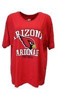 Arizona Cardinals Women's NFL Team Apparel Red T-Shirt, Plus Size, nwt