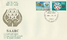 SRI LANKA 1991 6th SAARC SUMMIT COLOMBO FIRST DAY COVER 2 STAMPS HARD TO FIND