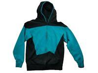Star Trek The Next Generation Hooded Sweatshirt Hoodie Black & Blue Medium