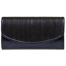 Caspar TA399 Bolso de Mano Fiesta para Mujer Clutch Elegante Brillo Drapeada