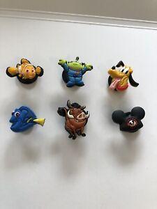 Lot of 6 Disney Characters Original Jibbitz Shoe Charms for Crocs