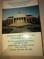 1978 College National Football Foundation Hall Of Fame Program Army Notre Dame
