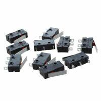 10 Pcs AC 125V 5A SPDT 1NO 1NC Short Straight Hinge Lever Mini Micro Switch X2V8