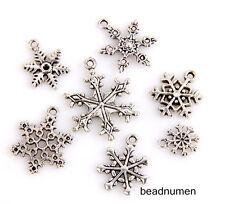 14pcs zinc alloy Mix snowflakes style Jewelry Making Pendant findings M5
