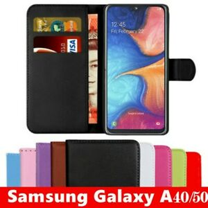 Case For Samsung Galaxy A10 TO A90 Phone Leather Flip Magnetic Card Wallet Cover