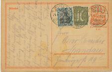 """DT.REICH 1922 40 Pf Postreiter GA-Postkarte Zusatzfrank """"BOKELOH (BZ. HANNOVER)"""