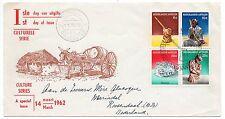 Netherlands Antilles FDC 1962 Culture Series Scott 276-79